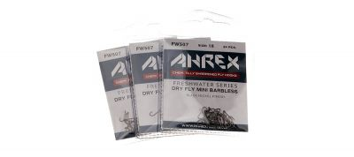 Muharski trnki AHREX hooks FW507 – Dry Fly Mini – Barbless | #20