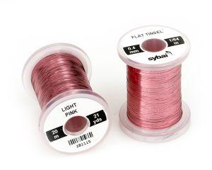 Material za vezavo SYBAI Flat Tinsel, 0.4 mm, Light Pink