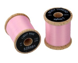 Nit za vezavo muh SYBAI Body Thread   Light Pink
