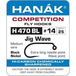 Muharski trnki HANAK 470 BL Jig Wave 25 kos | #10