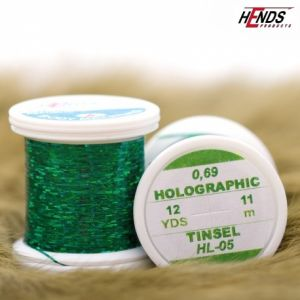 Material za vezavo HENDS HOLOGRAPHIC TINSEL - GREEN   HL-05