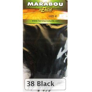 Marabu za vezavo muh HENDS MARABOU - BLACK   M-38